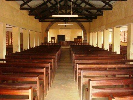 inside view of the chapel at kahuhia girls high school