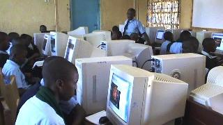 Students in the computer lab at Wahundura High School Murang'a